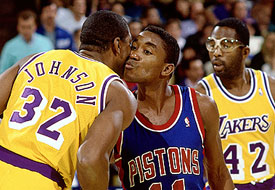 Isiah Thomas e Magic Johnson